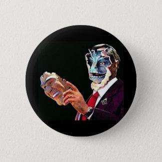 reptilian pinback button
