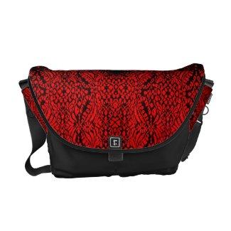 Reptilian Red and Black Rickshaw Messenger bag