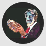 reptilian round stickers