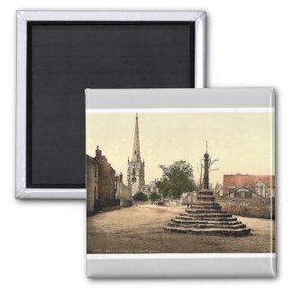 Repton cruza, iglesia y escuela, Derbyshire, Engla Imán De Frigorifico
