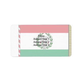 Repubblica Cispadana, Italy flag Personalized Address Labels