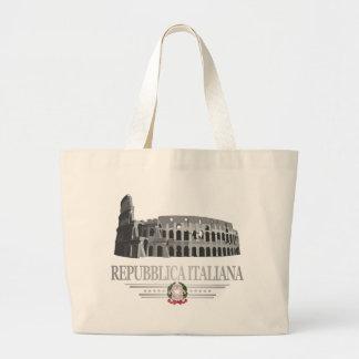 Repubblica Italiana (coliseo romano) Bolsa Tela Grande