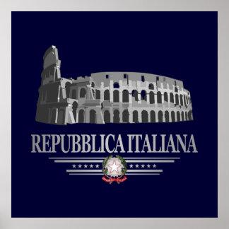 Repubblica Italiana (Roman Coliseum) Poster