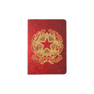 Repubblica Italiana Rosso Oro Fiore Passport Holder