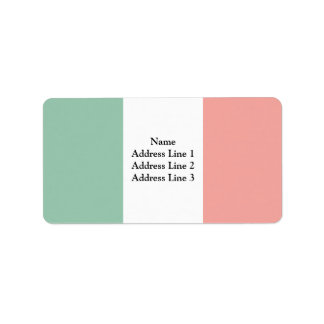 Repubblica Transpadana, Italy flag Custom Address Labels