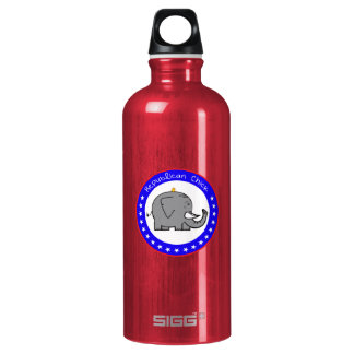repubican chick aluminum water bottle