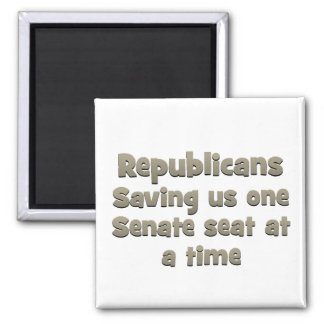 Republcans - saving the country as usual refrigerator magnet