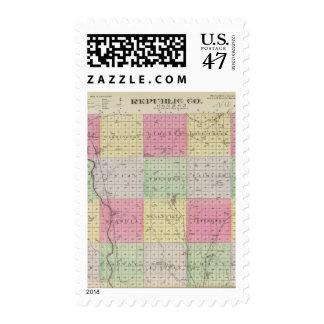 Republic County, Kansas Postage