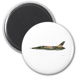 Republic F-105 Thunderchief 2 Inch Round Magnet