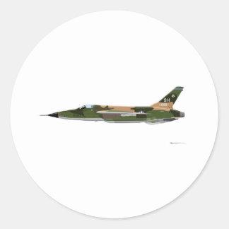 Republic F-105 Thunderchief Classic Round Sticker