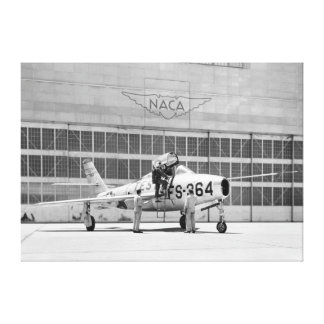 Republic F-84F on the Ramp at Moffett Field Canvas Print