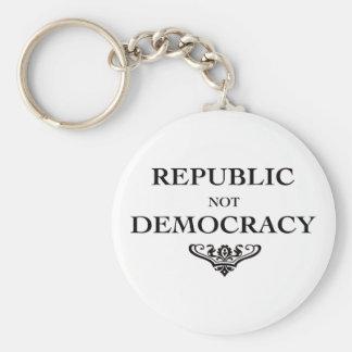 Republic not Democracy Keychain