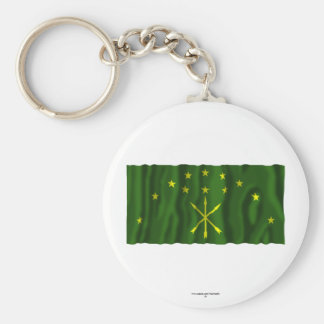 Republic of Adygea Flag Basic Round Button Keychain