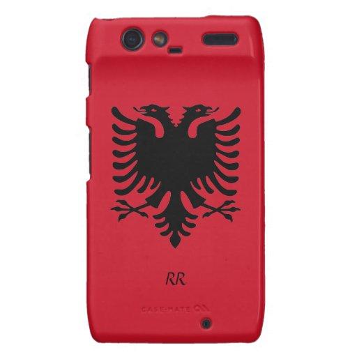 Republic of Albania Flag Eagle Motorola Droid RAZR Droid RAZR Cover