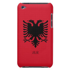 Republic Of Albania Flag Eagle On Ipod Touch 4g Barely There Ipod Case at Zazzle