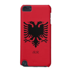 Republic Of Albania Flag Eagle On Ipod Touch 5g Ipod Touch (5th Generation) Cover at Zazzle