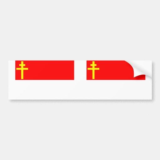 Republic Of Alsace Lorraine, France flag Bumper Sticker