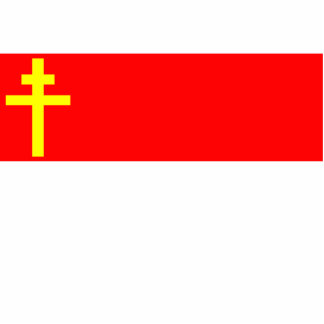 Republic Of Alsace Lorraine, France flag Standing Photo Sculpture