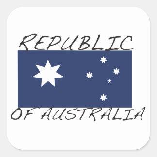 Republic of Australia Square Sticker