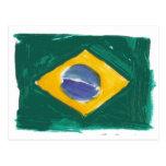 Republic of Brazil flag Postcard