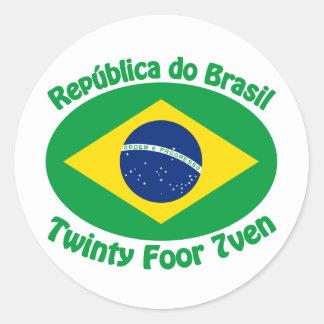 Republic Of Brazil - Twinty Foor 7ven Classic Round Sticker