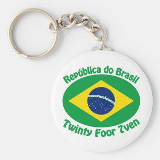 Republic Of Brazil - Twinty Foor 7ven Keychain