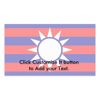 Republic Of China (Draft 2), China flag Double-Sided Standard Business Cards (Pack Of 100)