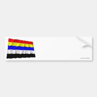 Republic of China Waving Flag (1912-1928) Bumper Sticker