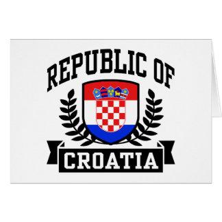 Republic of Croatia Greeting Card