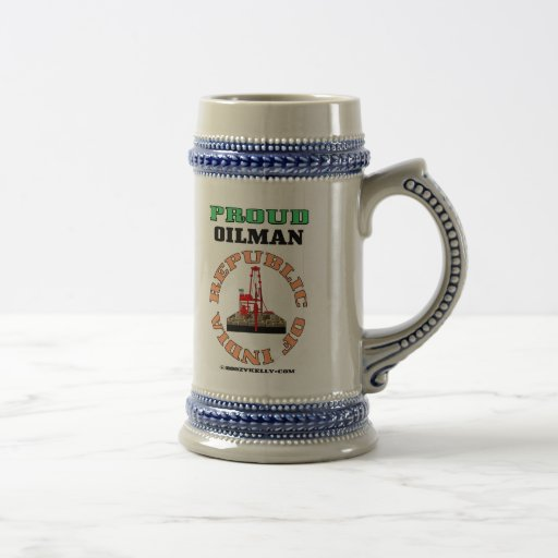 Republic of India,Proud Oilman,Beer Mug,Oil,Gas