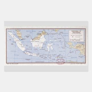 Republic of Indonesia and Portuguese Timor (1962) Rectangular Sticker