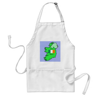 Republic of Ireland Flag and Map Adult Apron