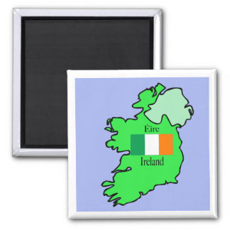 Republic of Ireland Flag and Map Magnet
