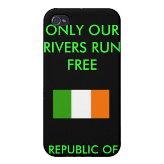 REPUBLIC OF IRELAND, ONLY OUR RIVERS RUN ... CASES FOR iPhone 4
