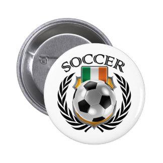 Republic of Ireland Soccer 2016 Fan Gear Button