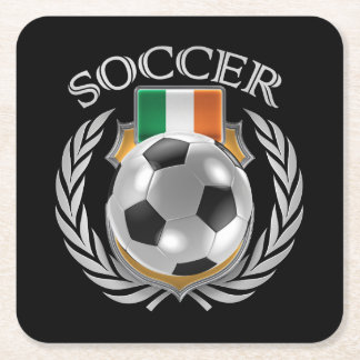 Republic of Ireland Soccer 2016 Fan Gear Square Paper Coaster