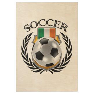 Republic of Ireland Soccer 2016 Fan Gear Wood Poster
