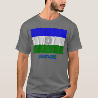 Republic of Jämtland waving flag with name T-Shirt
