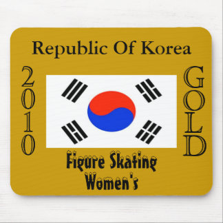 Republic Of Korea 2010 Gold (Figure Skating) Mousepad