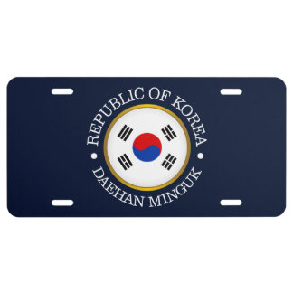 Republic of Korea (ROK) License Plate