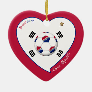 REPUBLIC OF KOREA SOCCER national flag 2014 Ceramic Ornament