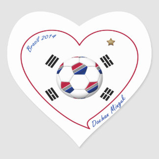 REPUBLIC OF KOREA SOCCER of national team 2014 Heart Sticker