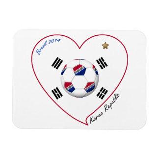 REPUBLIC OF KOREA SOCCER of national team 2014 Flexible Magnets