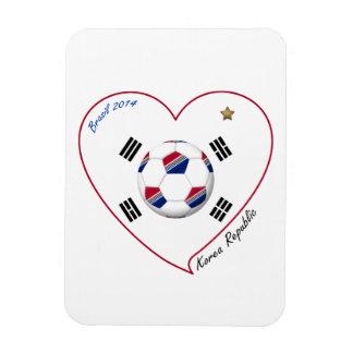 REPUBLIC OF KOREA SOCCER of national team 2014 Vinyl Magnets
