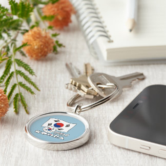 Republic of Korea (South) Soccer Ball and Flag Keychain