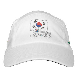 Republic of Korea (South) Soccer Ball and Flag Headsweats Hat