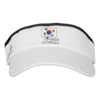 Republic of Korea (South) Soccer Ball and Flag Headsweats Visors