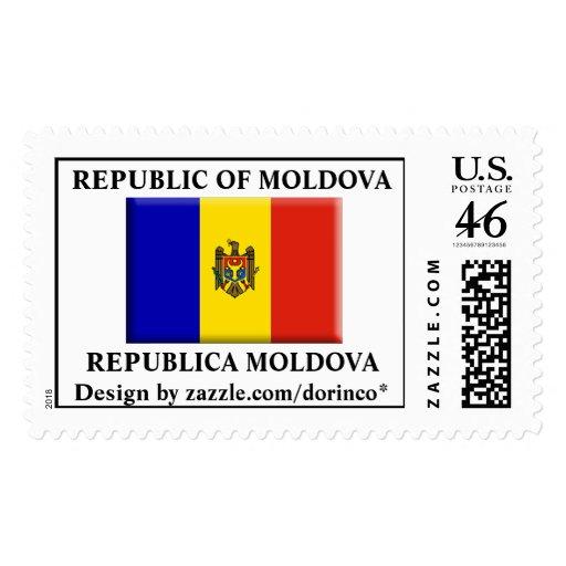 REPUBLIC OF MOLDOVA flag 1 Customized Postage