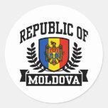 Republic of Moldova Round Sticker