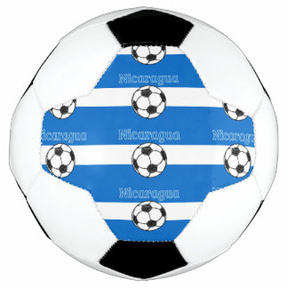Republic of Nicaragua Football Soccer Ball Collage